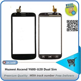 ascend cell phone 2019 - Wholesale-( with track number) New Touch Screen for Huawei Ascend Y600-U20 Dual Sim cell phones without Lcd screen cheap