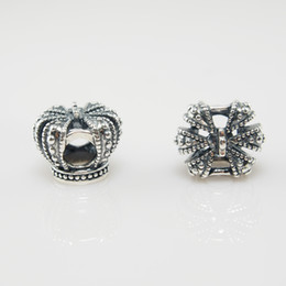 Pandora Crown Bracelet .925 Canada - ROYAL CROWN CHARM DIY Beads Real Solid 925 Sterling Silver Not Plated Fits Original Pandora Bracelets & Bangles & Necklaces
