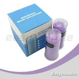 Micro-applicateurs Jetables En Gros Pas Cher-Livraison en gros-Free easyinsmile 400 Pcs jetable Micro Applicator Brush Bendable ultrafines Violet dia 1,5 MM pour le dentiste