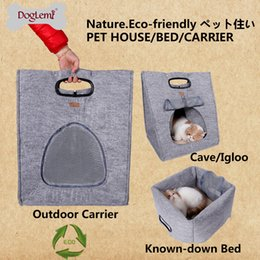 $enCountryForm.capitalKeyWord Australia - Free shipping! MOQ : 1PC DogLemi 3 in 1 Functional Puppy Dog Cat House Kennel Bed Nature Pet Carrier