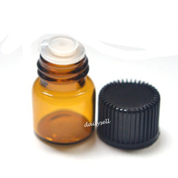 screw bottles 2019 - 1ml Small Clear Amber Bottle Empty Glass Bottle Pull Orifice Rducer Screw Cap Mini Essential Oil Vials cheap screw bottl