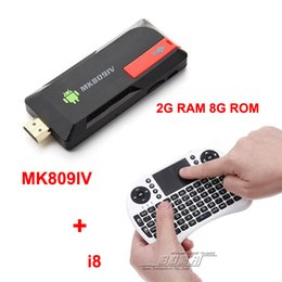 Rk3188 andRoid online shopping - Free Rii i8 air mouse touchpad MK809IV RK3188 Android TV Box Quad Core Mini PC Cortex A9 Ghz Bluetooth GB RAM GB MK809 IV
