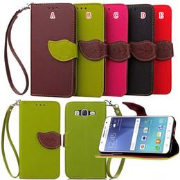 $enCountryForm.capitalKeyWord Canada - Leaf Wallet Leather Case TPU ID Card Stand Pouch Leechee Wrist Strap For Samsung Galaxy J7 J5 A3 A5 2017 Huawei G8 D199 Y5 II Cover Fashion
