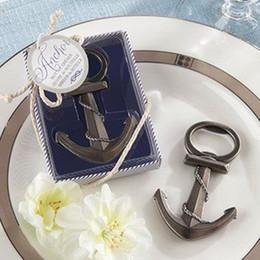 Veloce DHL LIBERA il trasporto 100pcs / lot Favore di cerimonia nuziale Favore della spiaggia Ancora Apribottiglie Favore Wedding Shower Favore di partito Regali della festa nuziale Regalo
