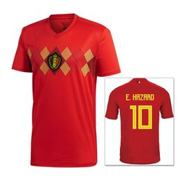 2018 World Cup Belgium men Soccer Jerseys 2018 Quality Home red LUKAKU  FELLAINI E.HAZARD KOMPANY DE BRUYNE 17 18 Belgium football shirt b5a277ad7