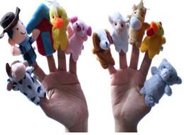 "$enCountryForm.capitalKeyWord Canada - Kids toys Velvet Animal Finger Puppets Story Telling ""Old Macdonald Had a Farm"" Finger Puppets Nursery Rhyme Toys"