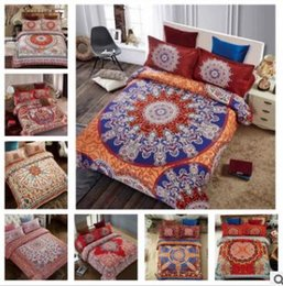 Discount 3d christmas bedding - 3D Bedding Sets Queen Size Bohemian Mandala Bedding Quilt Duvet Cover Set Sheet Pillow Cover 4pcs Bedding Set Top Qualit