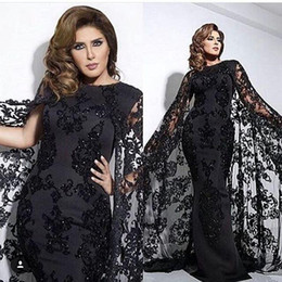 $enCountryForm.capitalKeyWord NZ - 2017 Zuhair Murad Evening Dresses with Cloak Vintage Mermaid Prom Gowns Beading Sequins Tulle Sweep Train Plus Size Formal Occasion Dresses