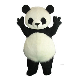 $enCountryForm.capitalKeyWord UK - Crazy Sale@ Long Hair Panda Bear Animal Adult Size mascot costumes Fancy Party Dress Suit +EPE Head