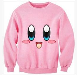 3DISWAG Europe and Harajuku style kirby cute cartoon couple thin section  sweater