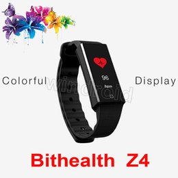 $enCountryForm.capitalKeyWord Canada - Bithealth Z4 Fitness Tracker Wristband Heart Rate Monitor Smart Band Colorful OLED Screen Pedometer Bracelet For iphone ios android phone