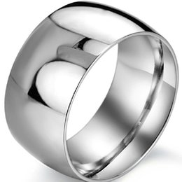 Men Size 15 Rings Australia - 12MM Size7-15 Stainless Steel Ring Wedding Biker Anniversary Valentine cocktail Biker Engagement Men