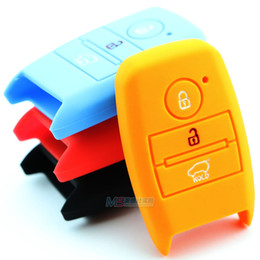 Kia K3 Key UK - Muti-color Silicone Remote Key Protective Cover for KIA k3 k3s k4 k5 kx3 sportage R Carens Shuma Sorento key wallet car key case