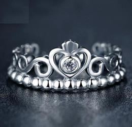 Discount pandora clear ring - Fashion Jewelry Ring Women Ring European Pandora Style Charm Ring High-quality 100% 925 Sterling Silver Princess Tiara R