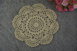 $enCountryForm.capitalKeyWord UK - DIY Design Wedding Handmade Crochet Coasters Doily Placemats Crocheted Doilies Size 7 inches 30 PCS  LOT Custom Color _DSC0065
