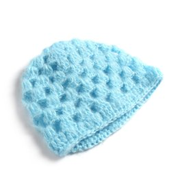 $enCountryForm.capitalKeyWord UK - Newborn Hand Knitting Mohair Bonnet Hat Infant Baby Photography Props Kids Caps Very Cute Soft Comfortable Material Toddler Hats
