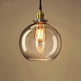 $enCountryForm.capitalKeyWord Canada - Clear glass globe pendan light modern kitchen pendant lighting UL listed copper base hanging ceiling pendant lamp