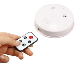 Smoke Detector Motion Detection Camera Canada - 4GB 8GB Smoke Detector camera DVR with Remote control Motion Detection video recorder 720*480 30fps 2.0MP mini camcorder white in retail box