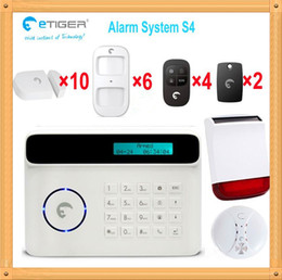 Sms Alarm Detector Canada - Free Shipping DHL, GSM SMS Home intrusion Security Alarm System Detector Sensor shop house office alarm security