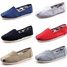 Venta al por mayor de DORP envío 2015 venta al por mayor nueva marca mujer y hombre moda zapatillas de lona zapatos mocasines pisos alpargatas zapatos tamaño 35-45