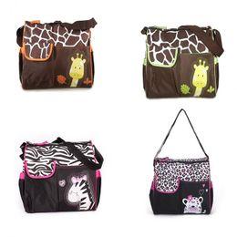 Fashion multiFunctional mummy bag online shopping - Animal diaper bag mummy nappy bags Zebra giraffe multifunctional fashion mother baby Shoulder Bags C3101