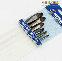 $enCountryForm.capitalKeyWord Canada - Wholesale-High Quality Professional Art Paint Brush Transparent Organic Rod Weasel Hair Brushes for Gouache Water Color Painting 6 Sizes