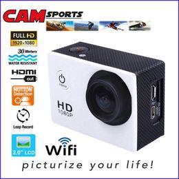 White Cameras Memory Canada - 32GB memory built-in WiFi Version SJ4000 Action Camera Diving 30M Waterproof Sport Camera 1920*1080P Full HD Car DVRs Camera Style DV15
