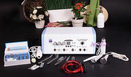 Peeling ultrasonic online shopping - 5in1 Multifunction Acne remove Ultrasonic Microdermabrasion High Frequency Diamond peeling Vacuum Spray Facial care Machine