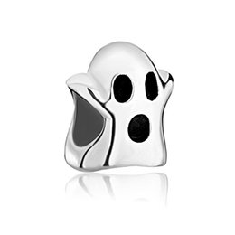 diy bracelets wholesale UK - 2016 Happy Halloween Metal Ghost bead in Rhodium Plating European Charm Fits For Pandora DIY Bracelet