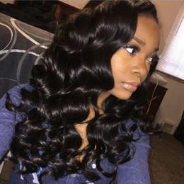 Pelucas para las mujeres negras pelucas delanteras del cordón pelucas del pelo humano de la onda profunda color natural 8A pelo envío libre de DHL Bellahair en venta
