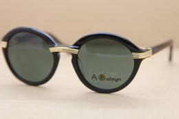 Alloy 52 online shopping - 2019 designer Glasses Original Vintage Arms Sunglasses Glasses Frame Fashion Round Plank Sunglasses Size mm