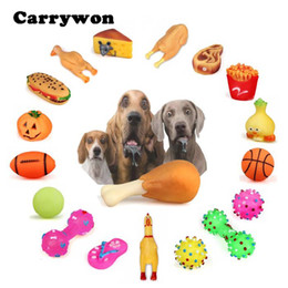 $enCountryForm.capitalKeyWord NZ - CARRYWON Pet Dog Puppy Chew Toys Anti Bite Squeaker Squeaky Plush Sound Cute Ball Vegetable Chicken Designs Dogs Toy Pet Product
