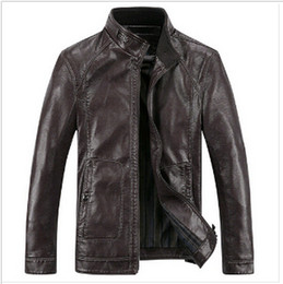 Discount Dark Brown Faux Leather Jacket | 2017 Dark Brown Faux ...