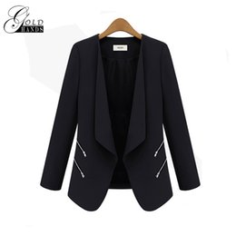 Office ladies jacket suits online shopping - Women Spring Autumn Fashion Blazers Jackets Women Slim Long Sleeve Solid Coats Female Casual Suit Office Lady Blazers Work Wear