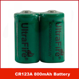 3v Cr123a Batteries Canada - Free DHL   EMS  100pcs lot UltraFire ICR123A CR123A 800mAh 3V Rechargeable Lithium Battery