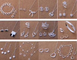 Discount track days - Free Shipping with tracking number New Fashion women's charming jewelry 925 silver 12 mix jewelry set 1452