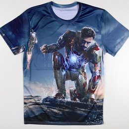 Barato Camisas De Caracteres Por Atacado-Wholesale-New Marvel The Avengers T Shirts Homens Short Sleeve Hulk Caráter Summer Masculino Tops Tees Moda Leisure T-shirts Camisetas