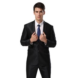 grey suit men fashion Canada - (Jacket+Pants+Tie)Plus Standard Euro-Size Men Suits 2015 New Fashion Slim Business Wedding Grey Black Trim Formal Suits E1546