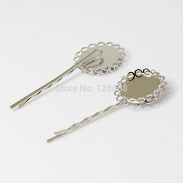 $enCountryForm.capitalKeyWord Canada - Beadsnice brass hair accessories hair bobby pins with 20mm round cabochon tray ladies' fancy hair clips ID 13371