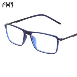 5a4eb45b8a04 FMY Super light TR90 Glasses Frame Brand Designer Reading Glasses Eyeglass  Unisex Vintage Myopia Rectangular Full Framed 0034