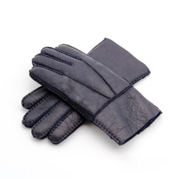 $enCountryForm.capitalKeyWord UK - New Men Warm Fives Fingers Gloves Windproof Leather With Fur Gloves Leather Gloves 6 Colors Design For Men Wholesale