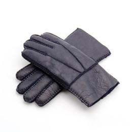 Leather Gloves For Men UK - New Men Warm Fives Fingers Gloves Windproof Leather With Fur Gloves Leather Gloves 6 Colors Design For Men Wholesale