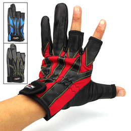 Gloves Cut NZ - New Professional Outdoor Sports Fishing Gloves 3 Fingers Cut Warm Leather Glove Finger Expose Anti-slip Waterproof