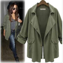 Discount Women Military Trench Coat | 2017 Military Green Trench ...