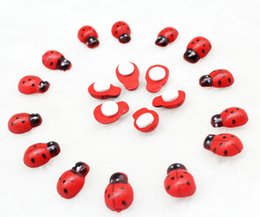 $enCountryForm.capitalKeyWord Canada - 500pcs Hand painted Wood Ladybug Craft Ornament 15mm Wood Ladybug Adhesive Beads, Cabachons, Embellishment