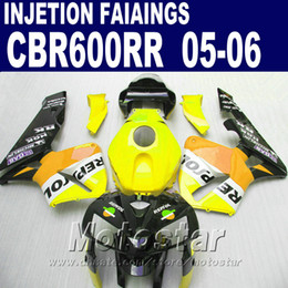 $enCountryForm.capitalKeyWord NZ - Yellow fairing parts! Injection Molding for HONDA CBR 600 RR fairing 2005 2006 cbr600rr 05 06 cbr 600rr custom fairing XF4A