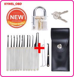 Locksmith tooLs extractor online shopping - Wespire Transparent Lock Padlock Supplies Professional Locksmith Trainer Tools Cutaway Practice Training Extractor Tool