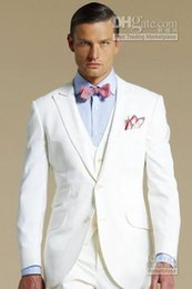 $enCountryForm.capitalKeyWord Canada - Hot Sale White Groom Tuxedos Mandarin Lapel Groomsmen Men Wedding Suits(Jacket+Pants+Tie+Vest)H469