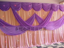 Backdrops Swags Canada - A set of wedding Drape & pipe system wedding curtain valance stand with telescopic rods wedding backdrop with swag backdrop frame
