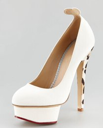 Shoe Flats For Cheap Canada - White Wedding Shoes For Bridal Shoes High Thin Heels Cheap Modest White Bridal Shoes Bridal Shoes Heels With Platform Sexy Pumps New Hot